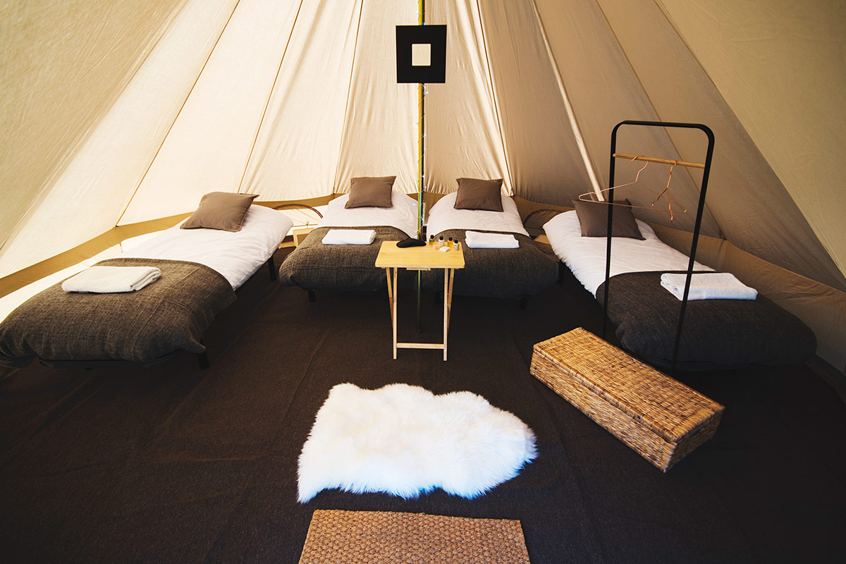 Bell Tent Hire Accommodation