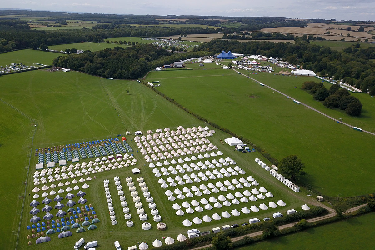 Honeybells Festival Accommodation Tents