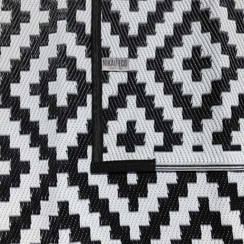 Outdoor/Camping Recycled Plastic Eco Mat Black & White