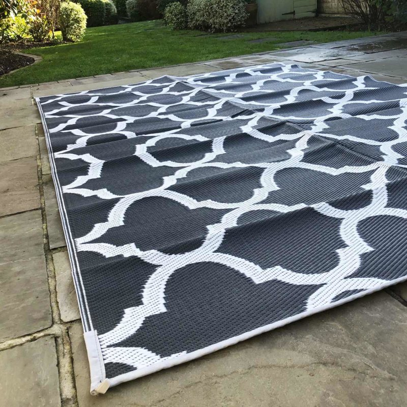 Outdoor/Camping Recycled Plastic Eco Mat Grey & White