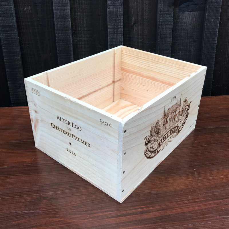 Wooden Wine Box (Glamping Bedside Table)